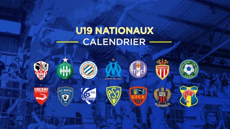 U19 Nationaux : le calendrier est sorti !