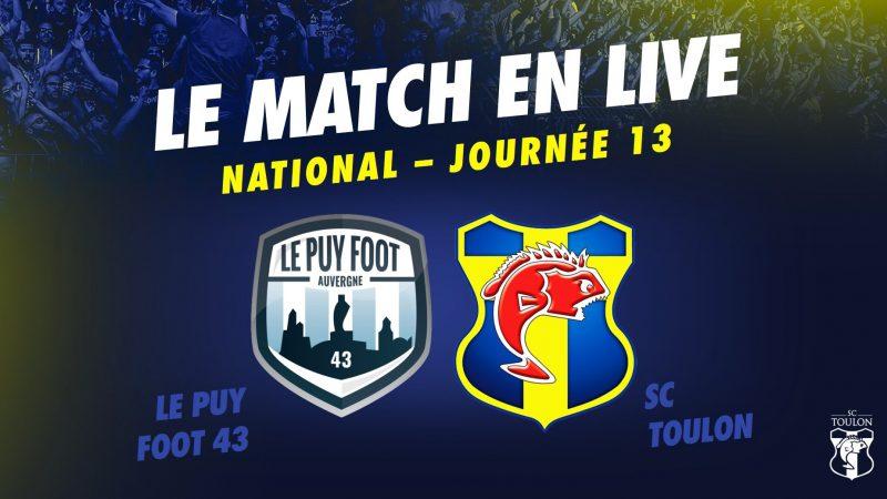 LIVE : Le Puy vs Toulon