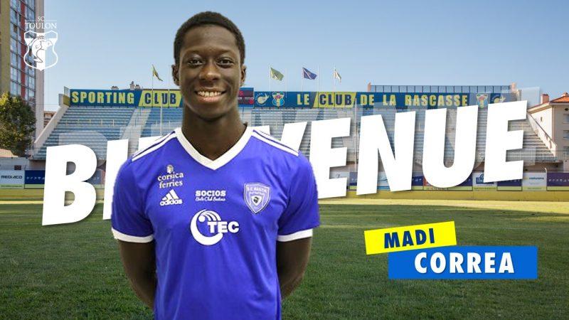 MadiCorrea: un jeune milieu de terrain prometteur arrive à Toulon!
